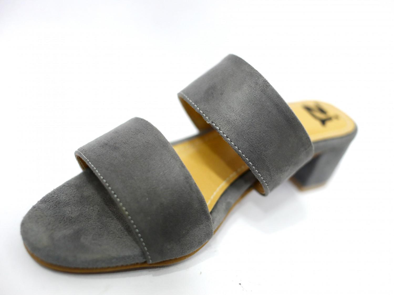 Hienbuy Brand New Block Heel Slipper For Girls (gray)
