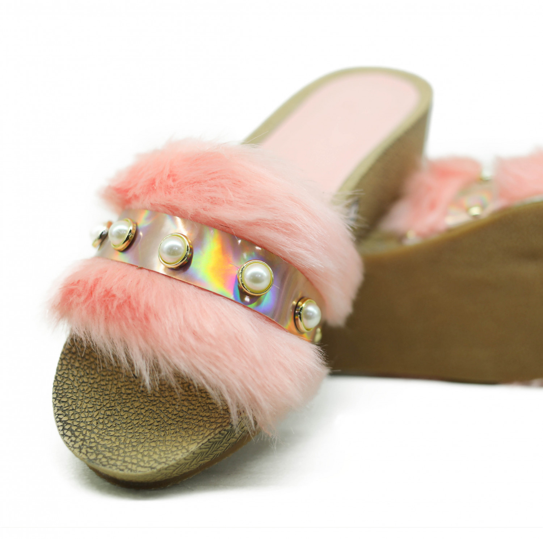hienbuy Hie'n'buy Brand New Comfortable Home Fur Slippers (pink)