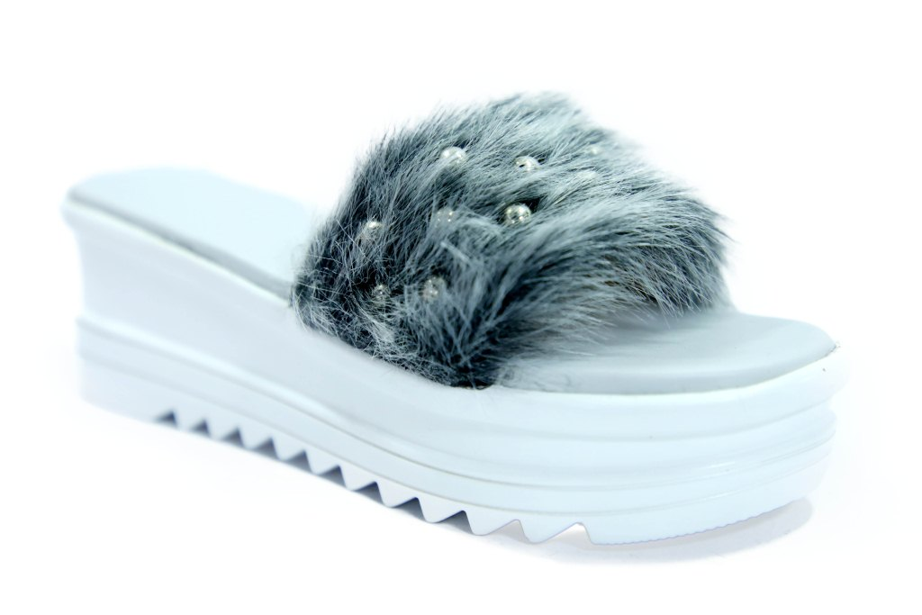 hienbuy Brand New Imported Hie'n'buy Trip Tickets Heels Slipper For Girls (white)