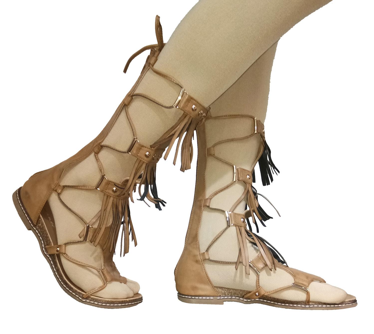 hienbuy Women Camel Gladiators