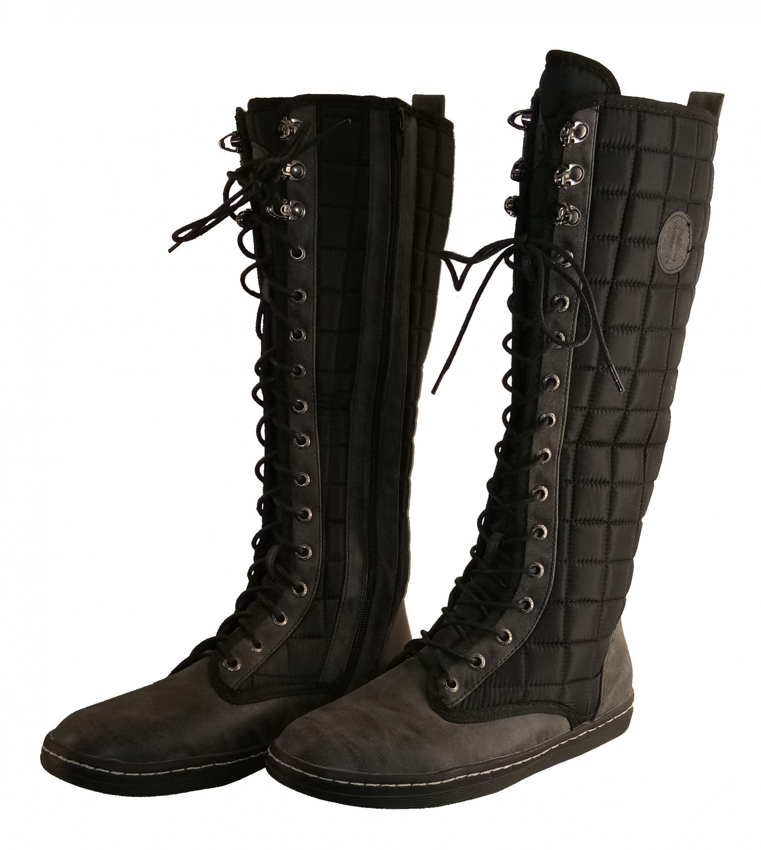 hienbuy Women Casual Black Long Boots