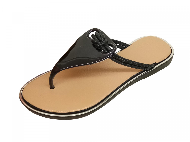hienbuy Gray Black Slippers