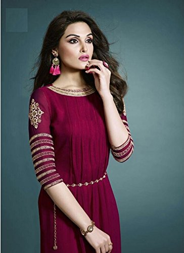 bespecial New Arrival Red Hot Gorgeous Faux Georgette Festival Partywear Kurti (xl Size)