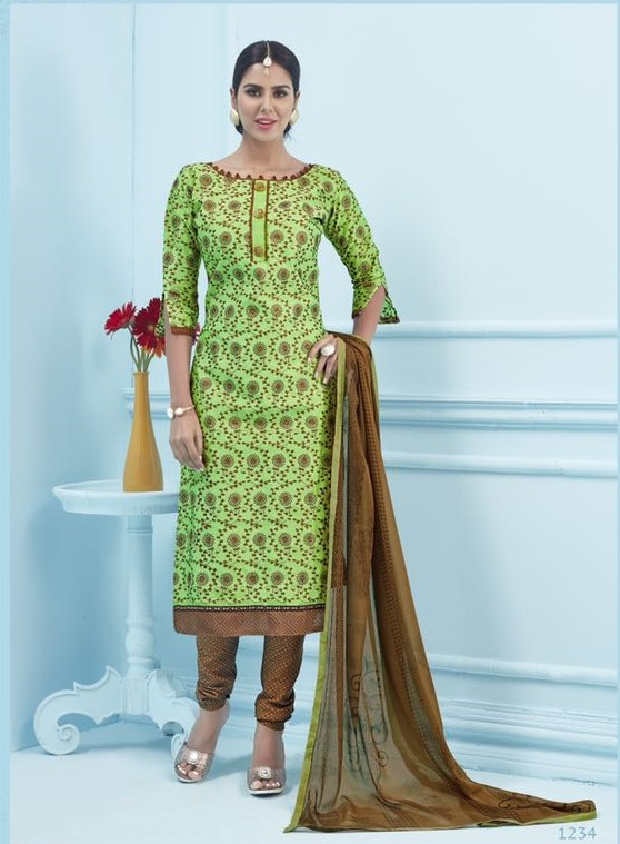 Greenzi Fancy Style Ethinic Dress Material Gz026