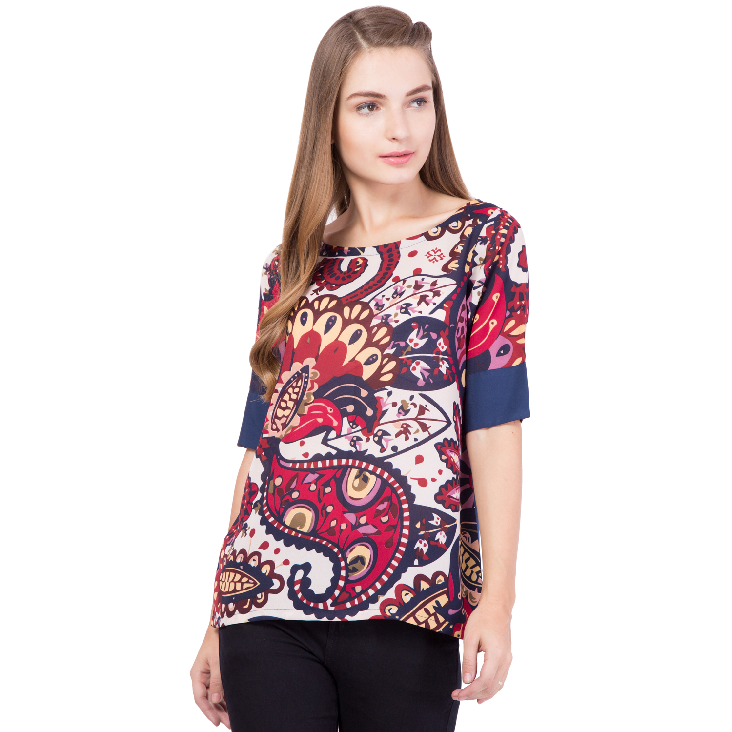 simbhacreations Simbha Printed Straight Top
