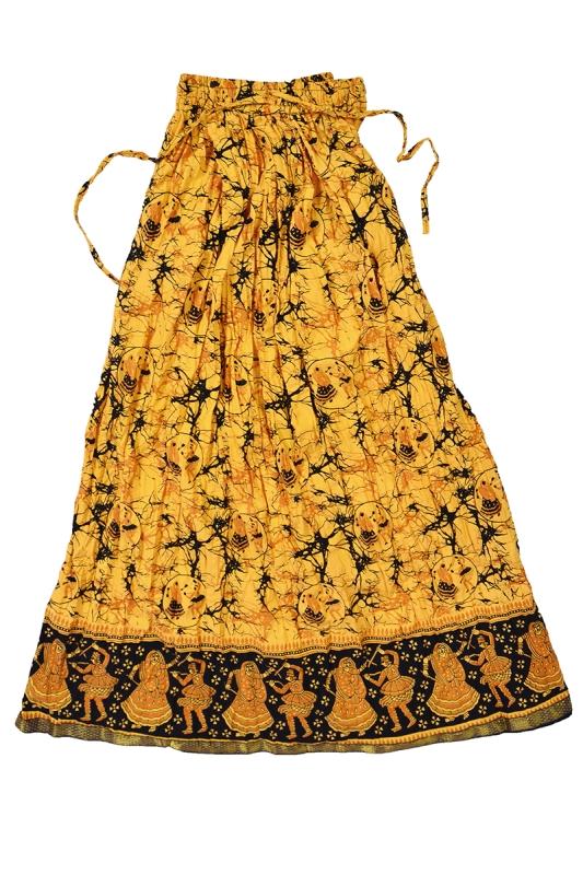 wwwguragscom Yellow Skirt With Black Print