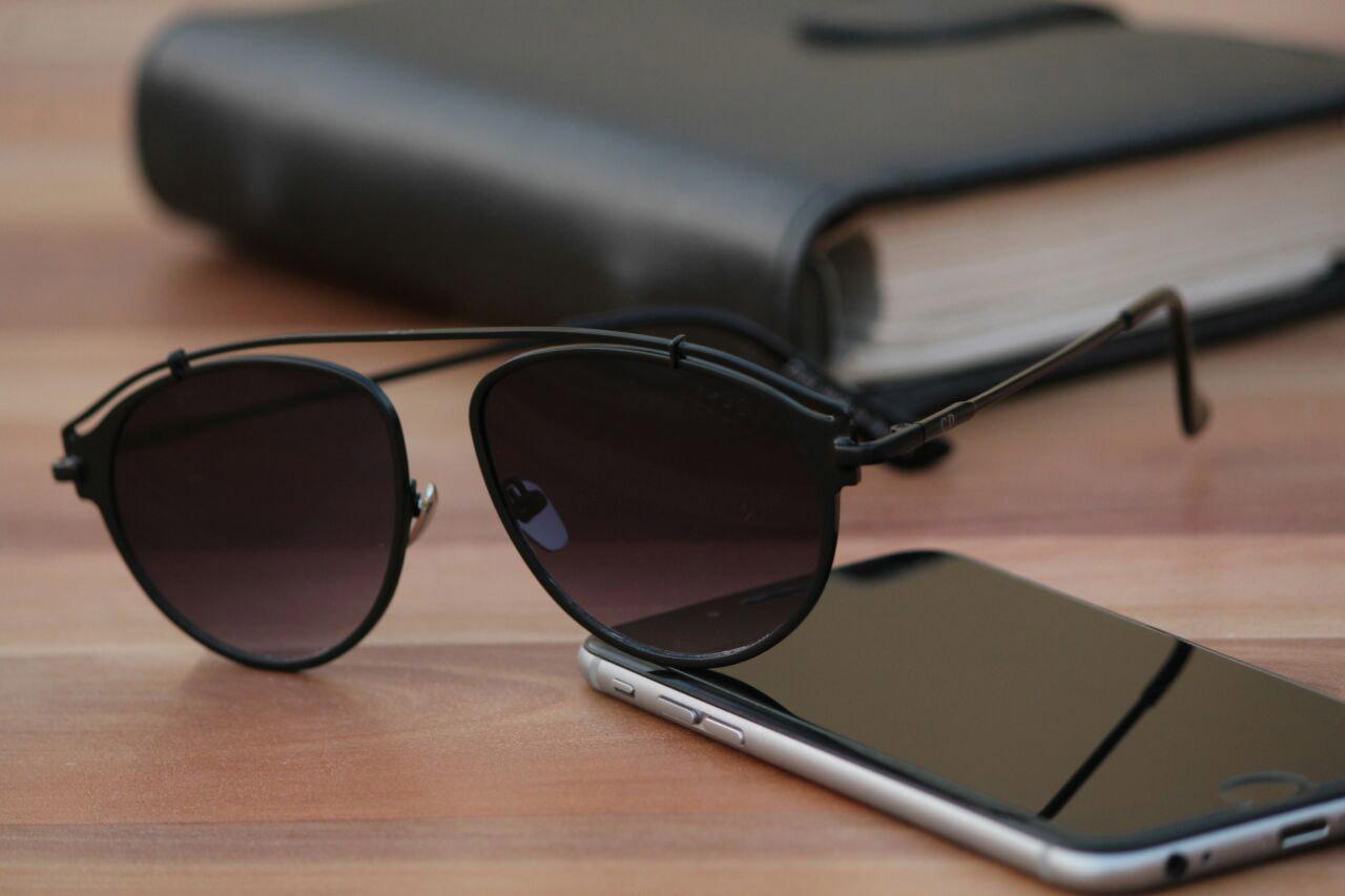 luxurystore Black And Black Stylish Sunglasses W 507
