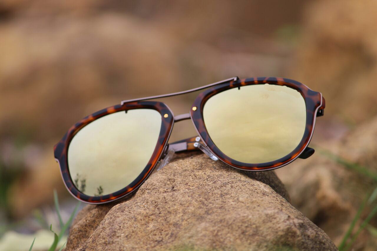 luxurystore Brown And Brown Stylish Sunglasses W 620