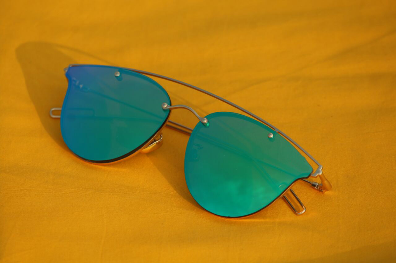 luxurystore Gold And Green Super Style Sunglasses W1044
