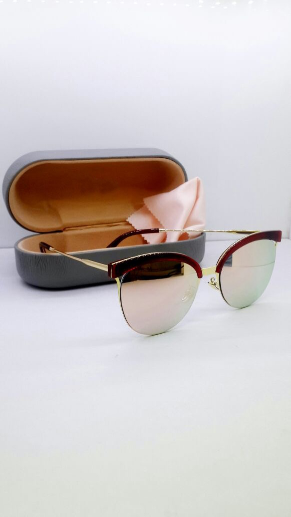 luxurystore Silver Pink Hot Style Sunglasses W1134