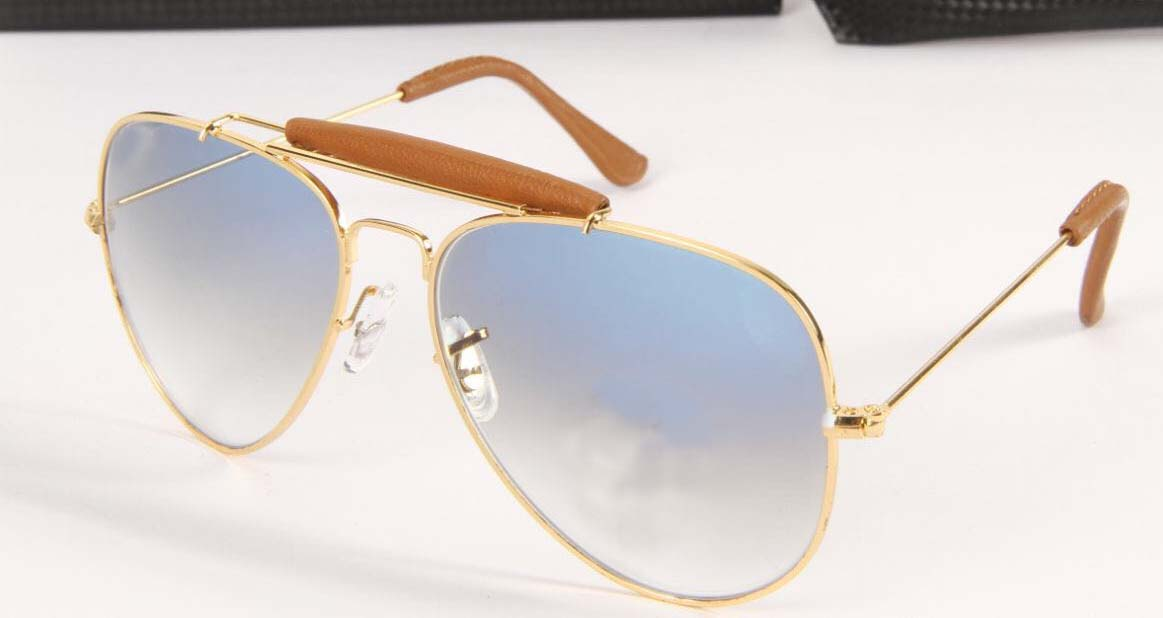 luxurystore Brown And Gold Hot Stylish Sunglasses W0114