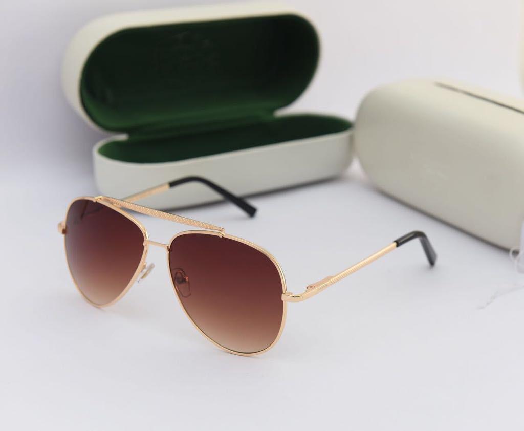 luxurystore Black And Golden Stylsh Sunglasses W 1823