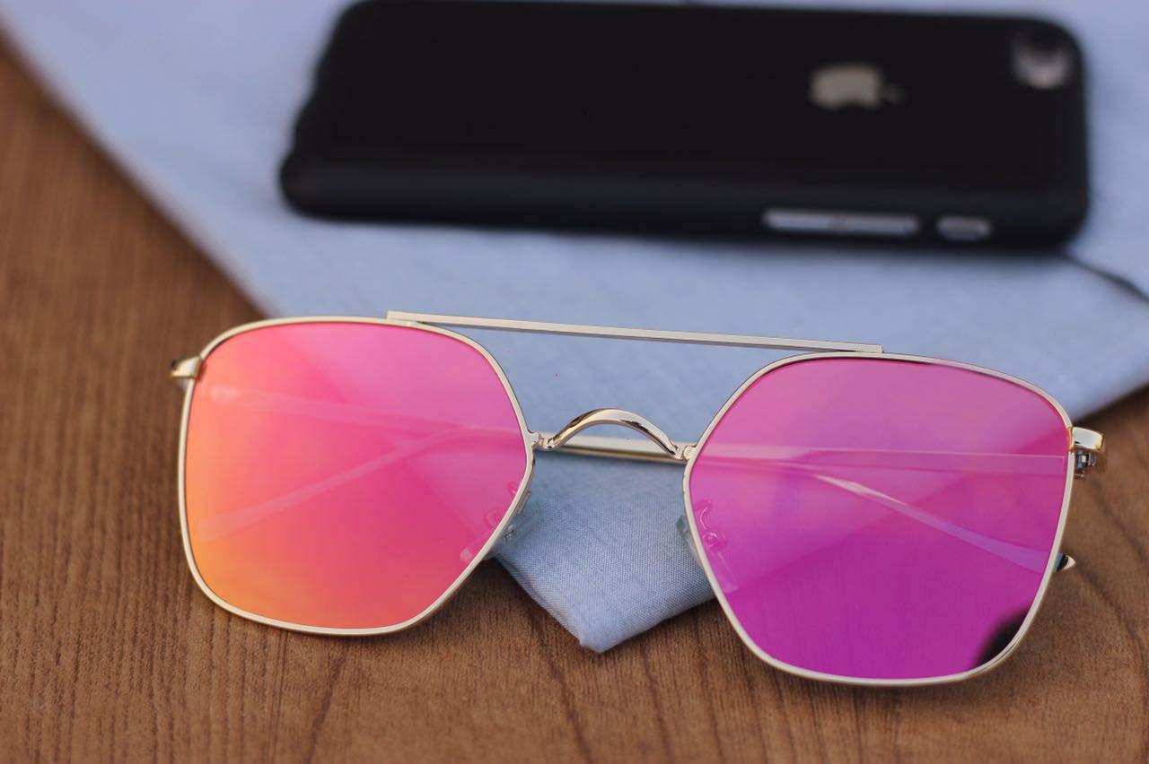 luxurystore Pink And Gold Stylish Sunglasses W2436