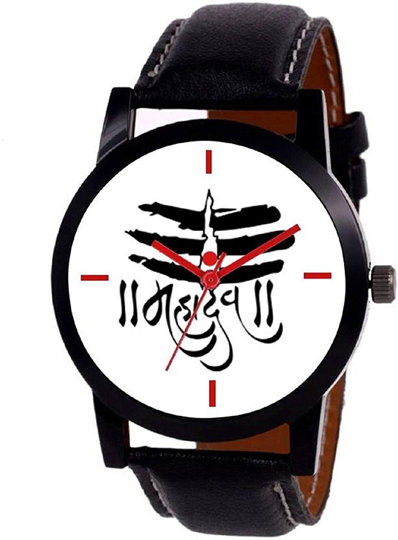 luxurystore Mahadev White Dial Watch For Man
