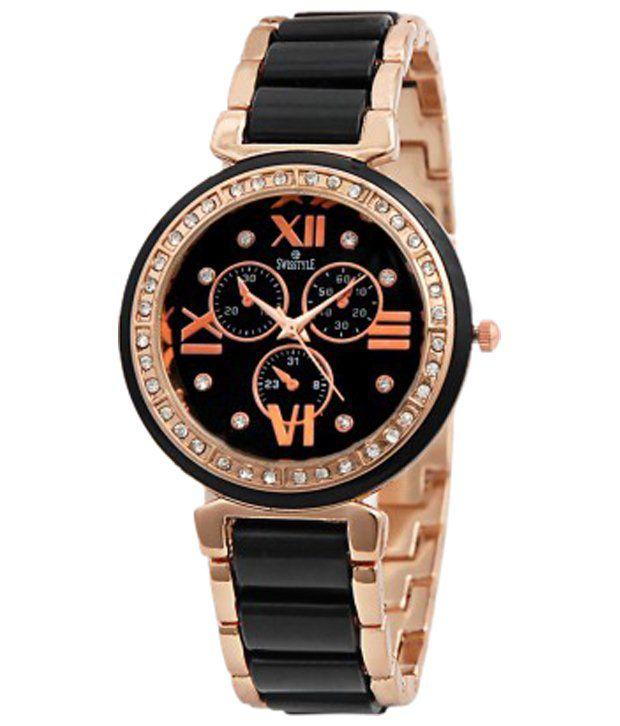 luxurystore Black,gold Steel Belt Watch For Men W31
