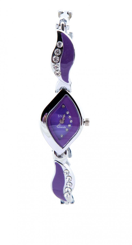 luxurystore Luxury Purple  Diamond Steel Belt For Women Watch 02