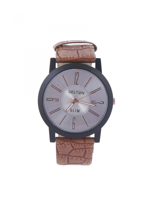 luxurystore Luxury Brown Leather Belt Watch For Men 002
