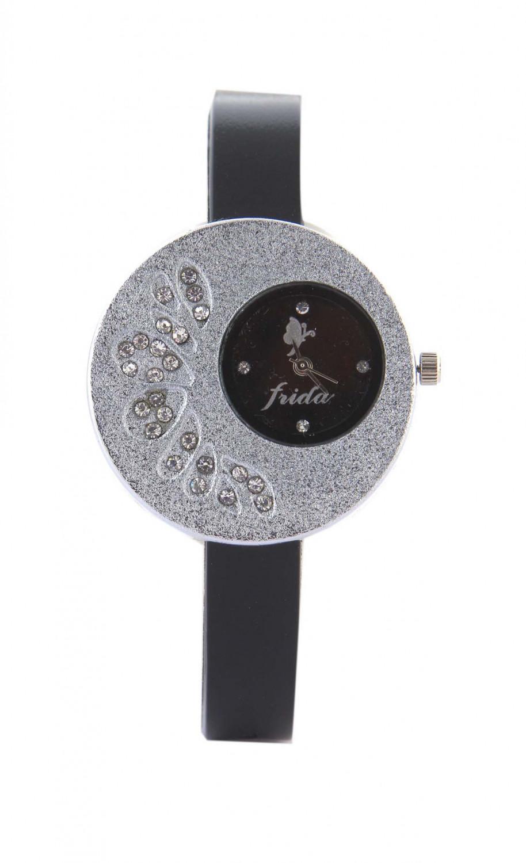 luxurystore Luxury Black Leather Belt Watch For Men 007