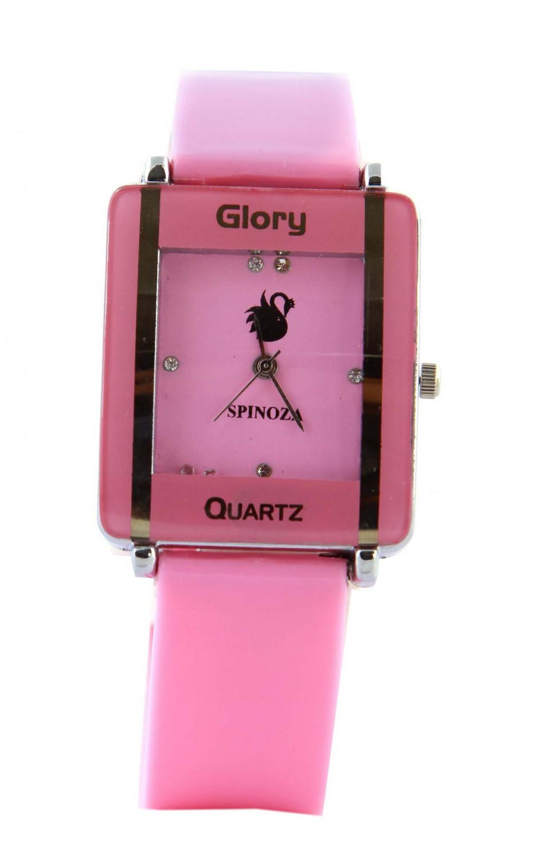 luxurystore Luxury Pink Leather Belt Watch For Women 06