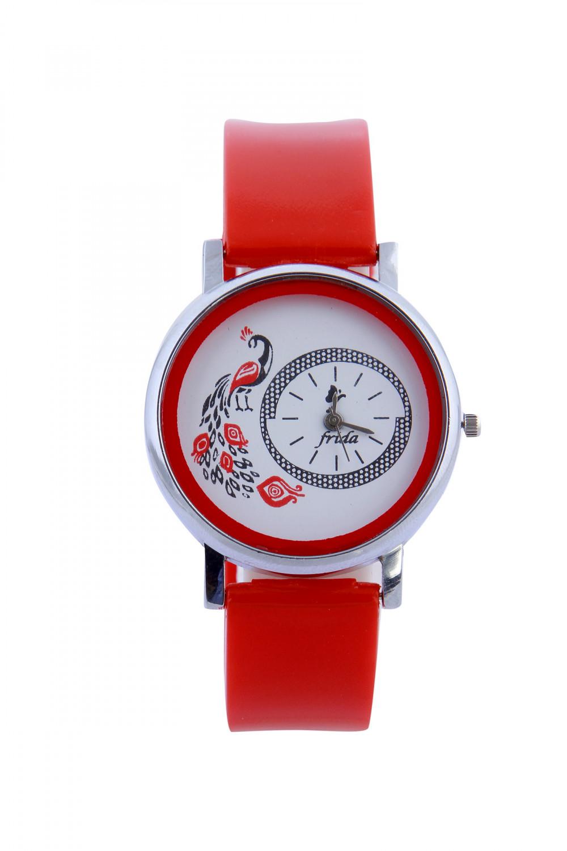 luxurystore Luxury Red Leather Belt Watch For Men 009
