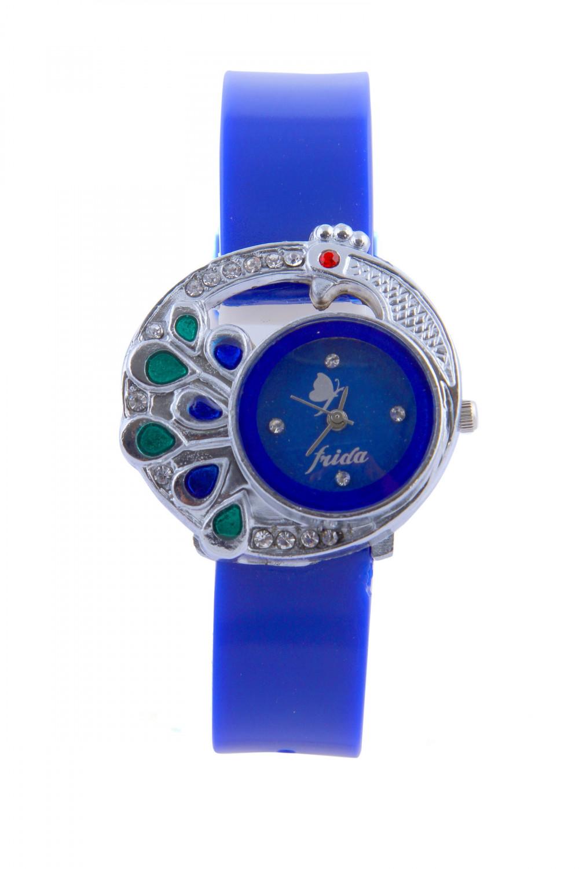 luxurystore Luxury Blue Diamond Leather Belt Watch For Men 013