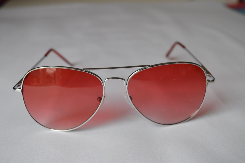 infashionveins Red Catty Aviator Sunglasses