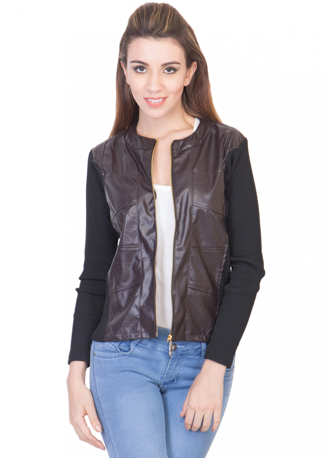 ants3 Ants Leather Front Jacket