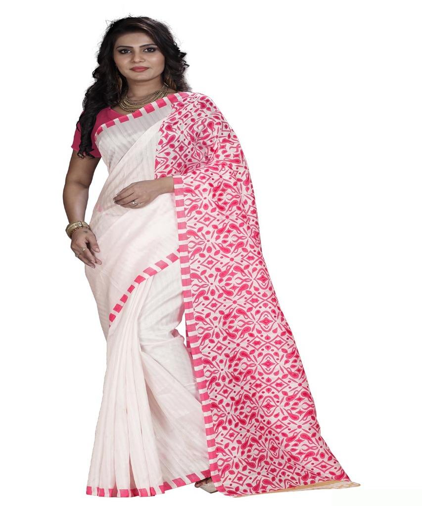 basantfashions Basant Designer Bhagalpuri Saare With Blouse Piece, Ab Karo Fashion Khul K_061