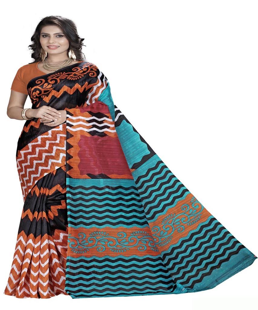 basantfashions Basant Designer Bhagalpuri Saare With Blouse Piece, Ab Karo Fashion Khul K_055