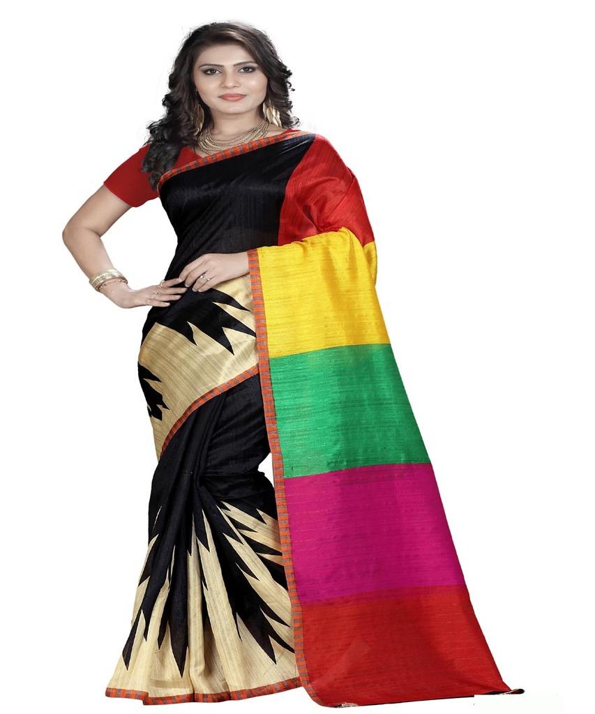basantfashions Basant Designer Bhagalpuri Saare With Blouse Piece, Ab Karo Fashion Khul K_051