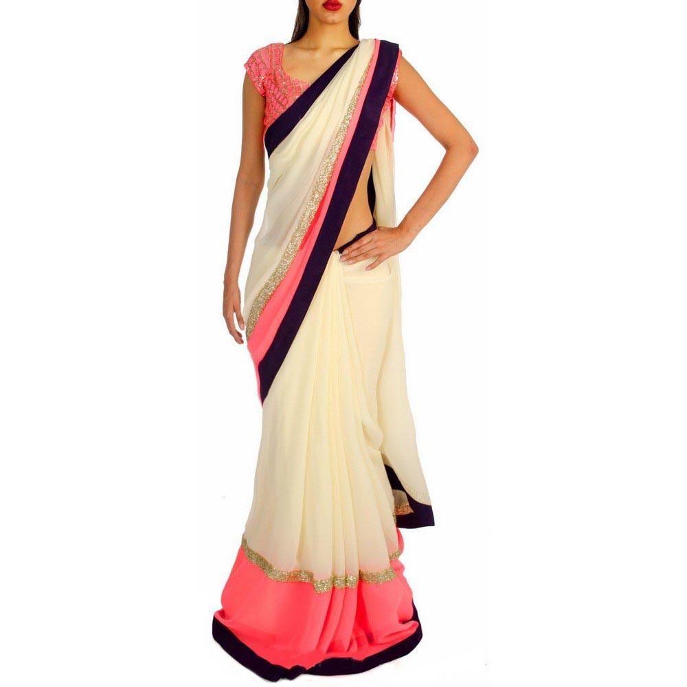 basantfashions Basant Fashions Basant Designer Multicolor Chiffon Saree All New Fashions_090