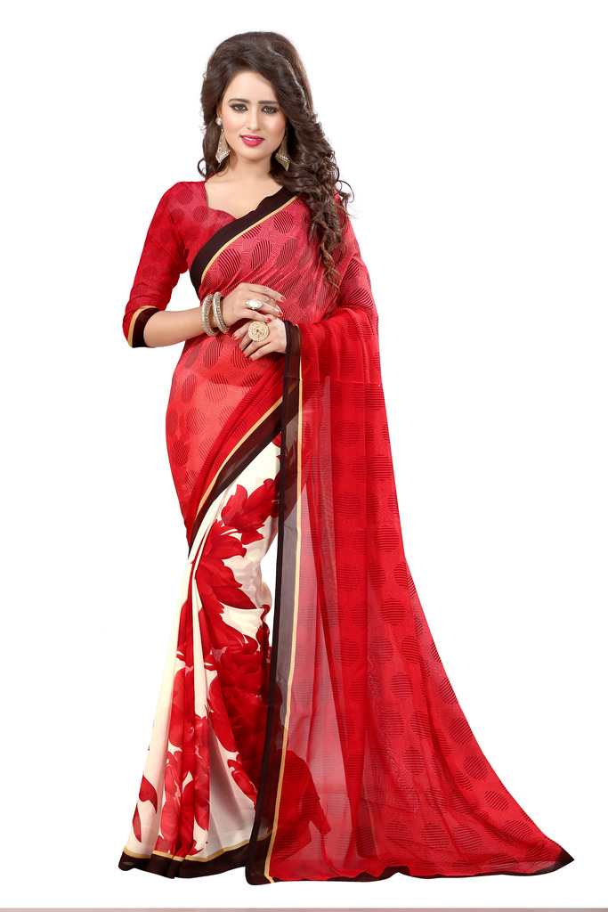 basantfashions Basant Fashions Basant Designer Multicolor Georgette Saree All New Fashions_089