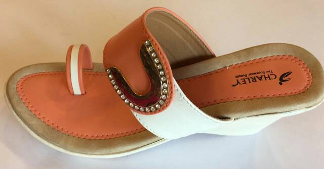 radhikaenterprise Brown And White Sandals For Women