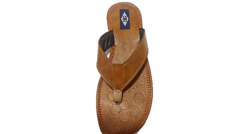 Ssfootwear Men Brown Synthetic Slipper/chappals