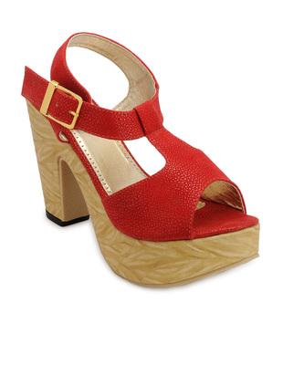K9teen Red Color Heel Sandals