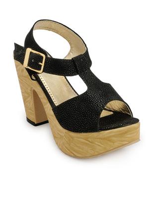 K9teen Black Color Heel Sandals