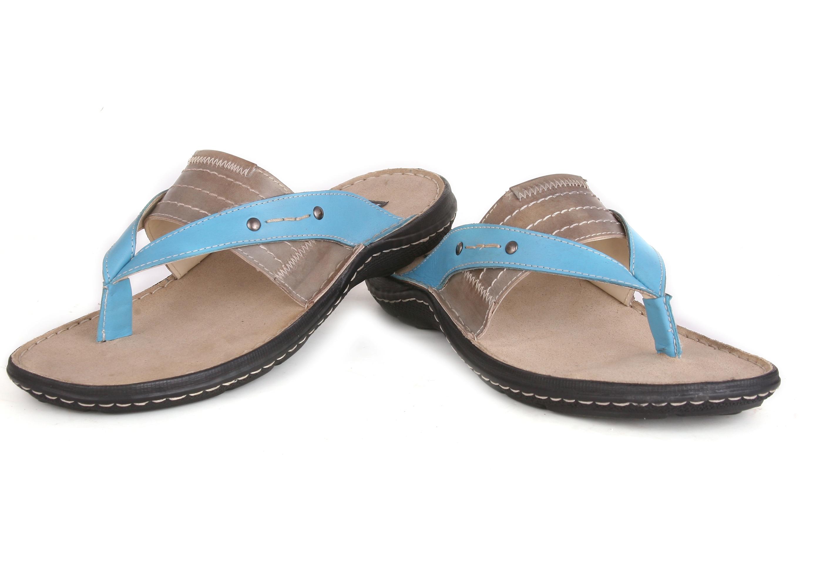 schuemaker Schue Maker Blue Grey Men Flip Flop