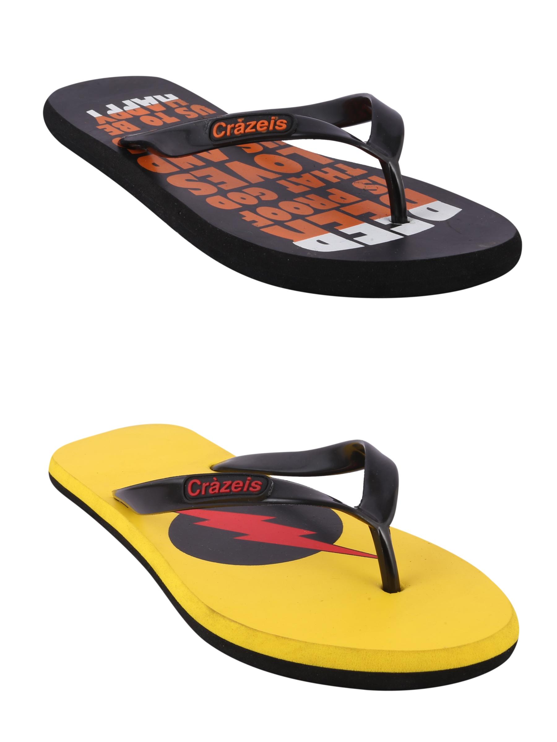 crazeis2 Crazeis Flip-flops Pack Of 2 For Men-031