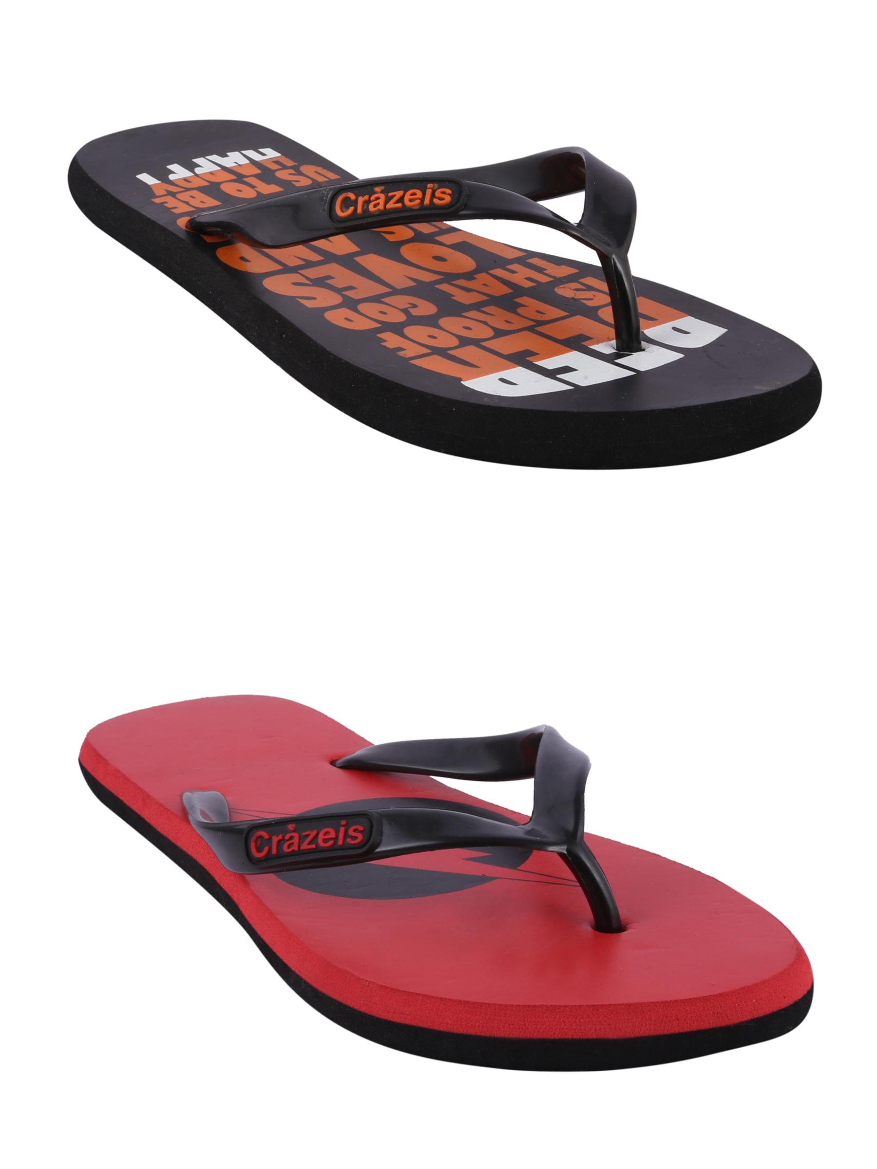 crazeis2 Crazeis Flip-flops Pack Of 2 For Men-030