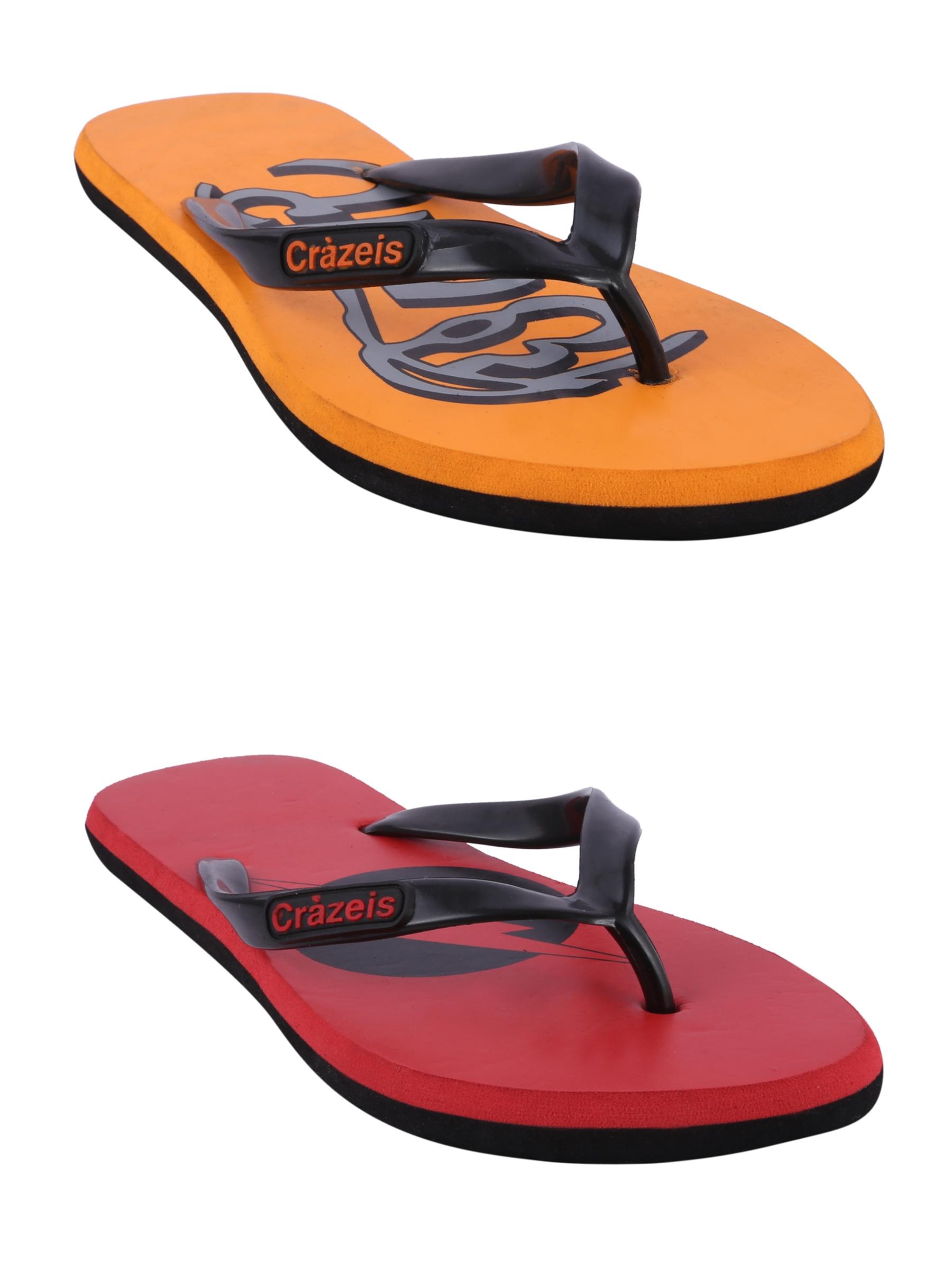 crazeis2 Crazeis Flip-flops Pack Of 2 For Men-022