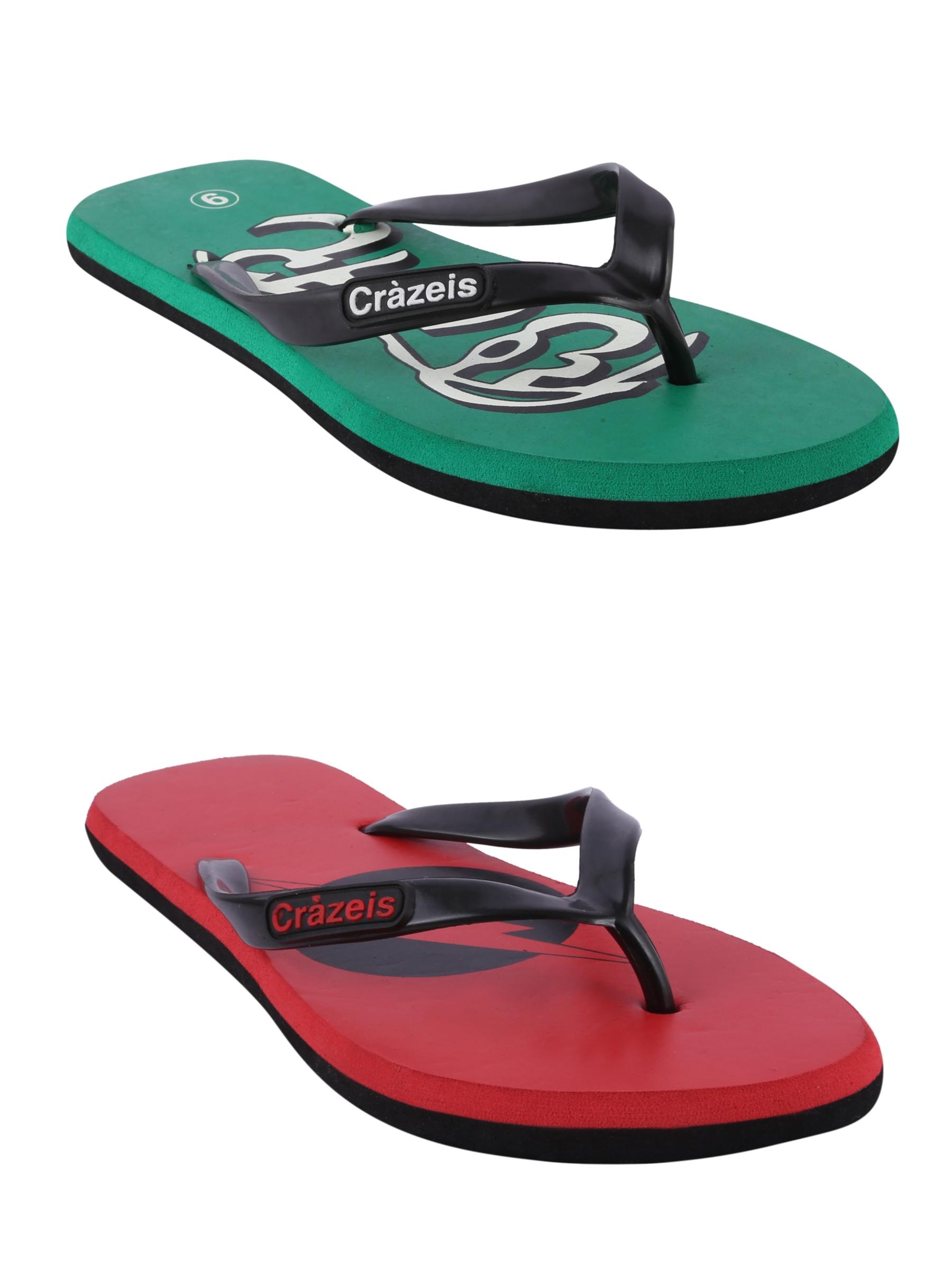 crazeis2 Crazeis Flip-flops Pack Of 2 For Men-020