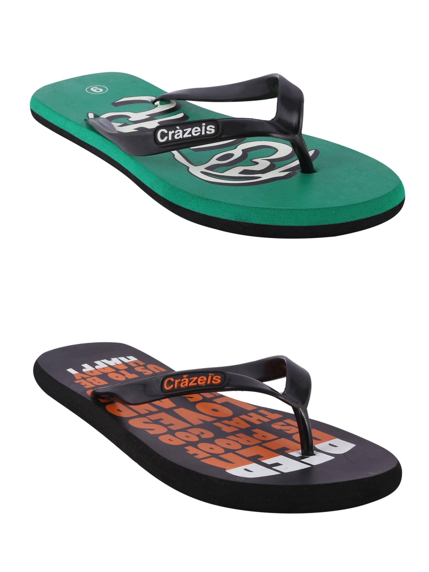 crazeis2 Crazeis Flip-flops Pack Of 2 For Men-018