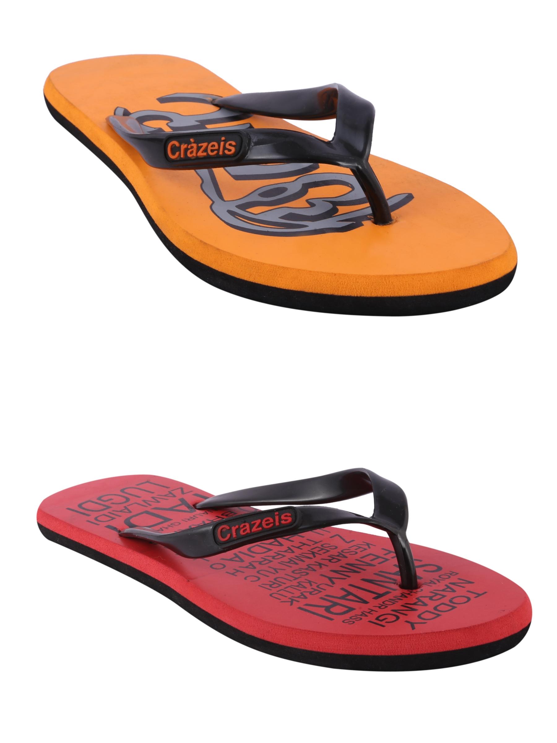 crazeis2 Crazeis Flip-flops Pack Of 2 For Men-017