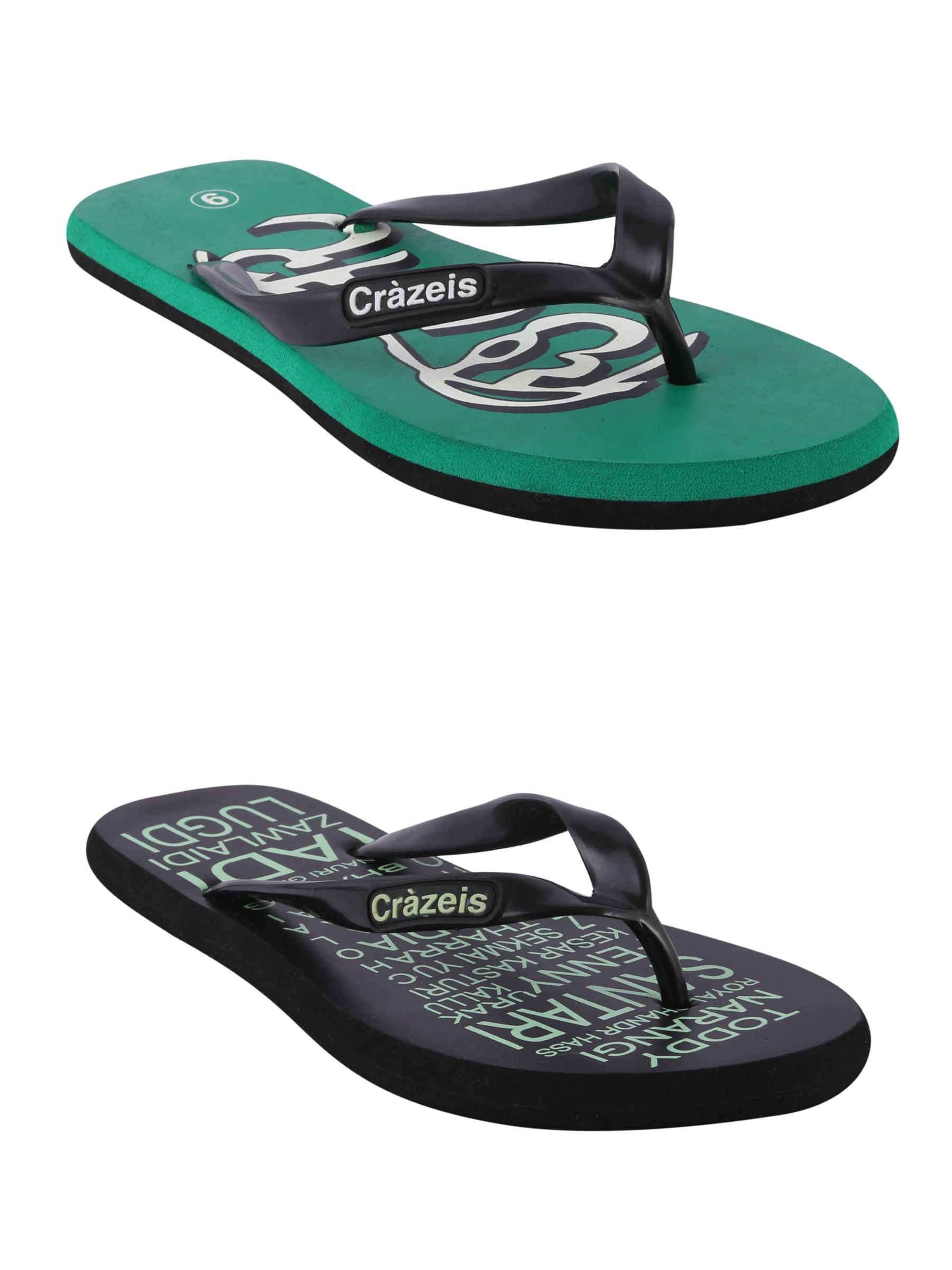 crazeis2 Crazeis Flip-flops Pack Of 2 For Men-014