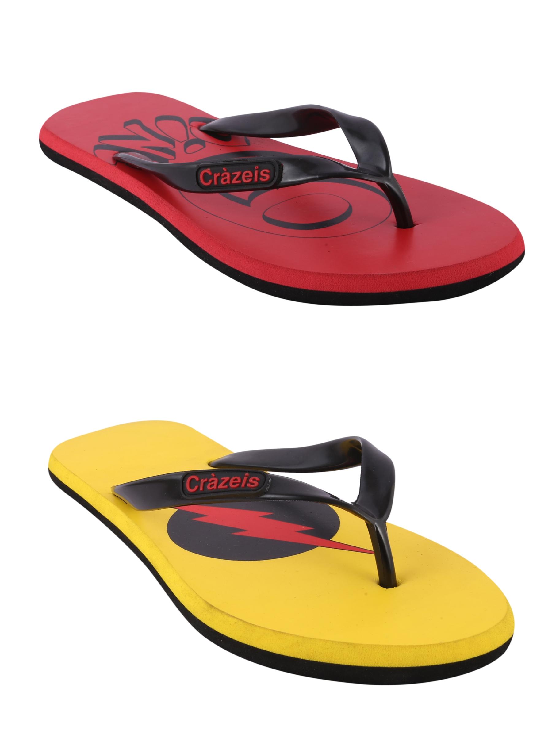 crazeis2 Crazeis Flip-flops Pack Of 2 For Men-013