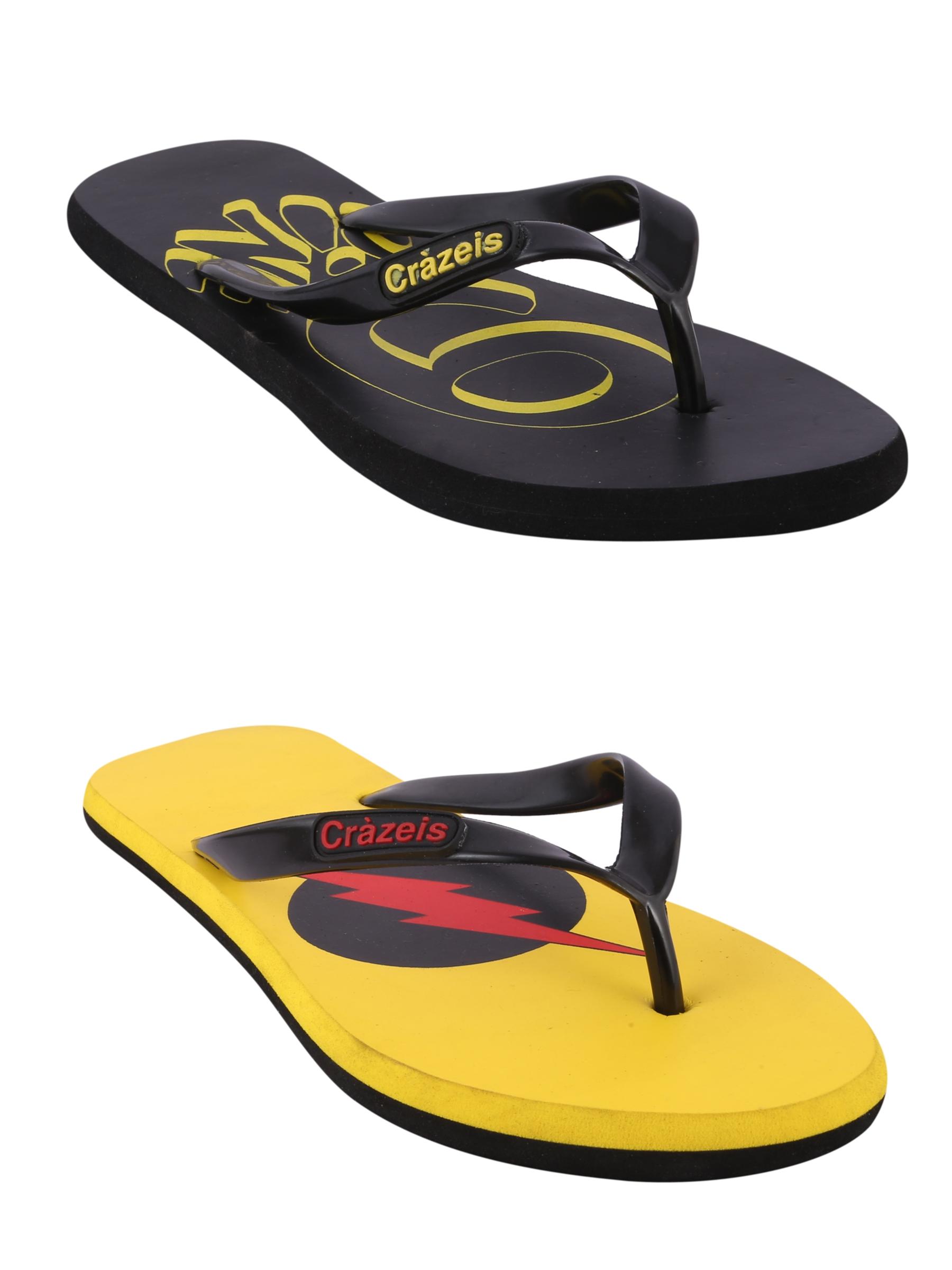 crazeis2 Crazeis Flip-flops Pack Of 2 For Men-011