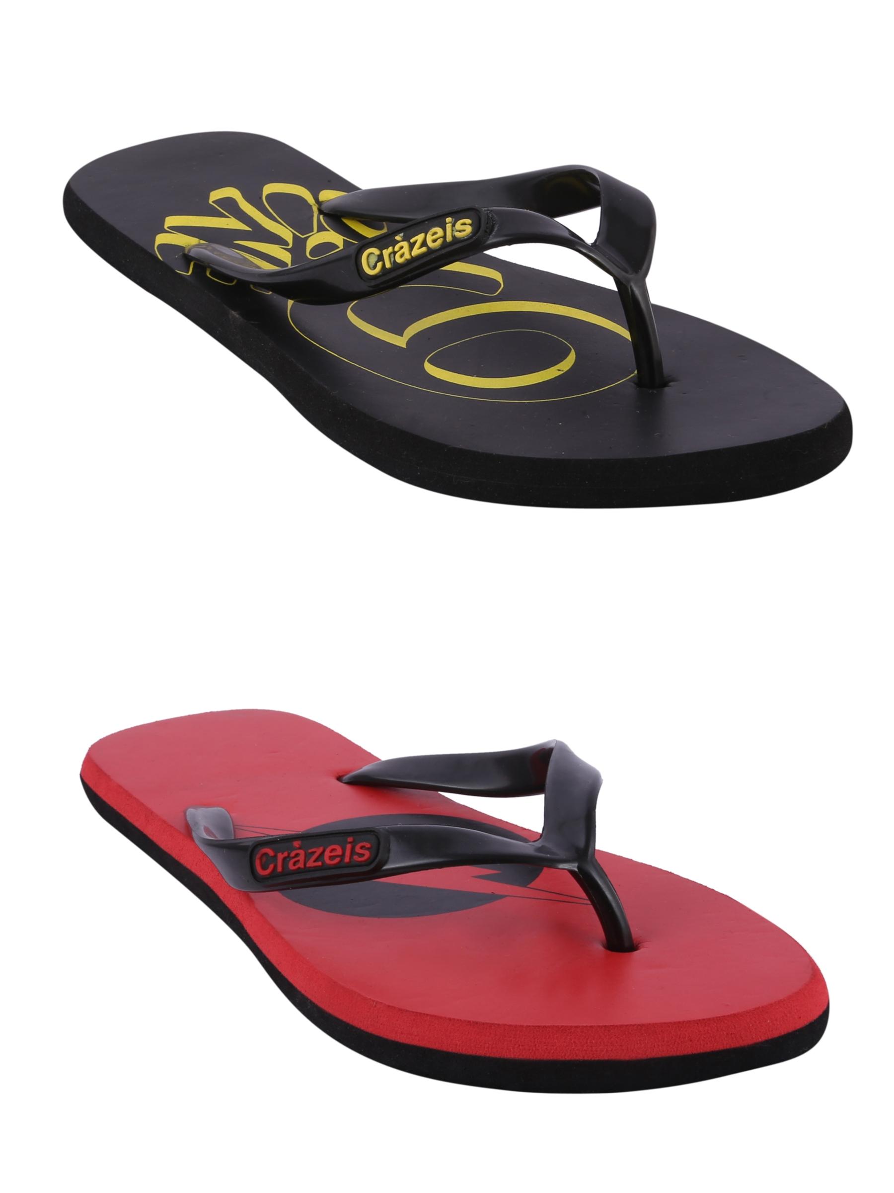 crazeis2 Crazeis Flip-flops Pack Of 2 For Men-010