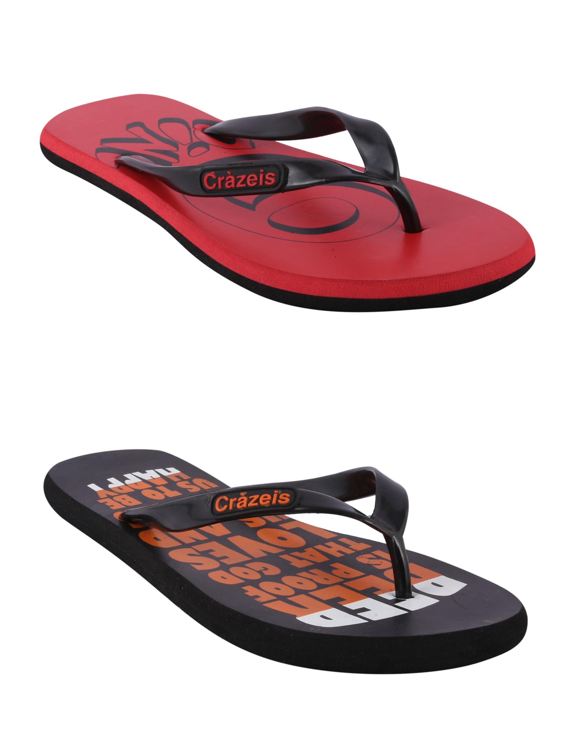 crazeis2 Crazeis Flip-flops Pack Of 2 For Men-009