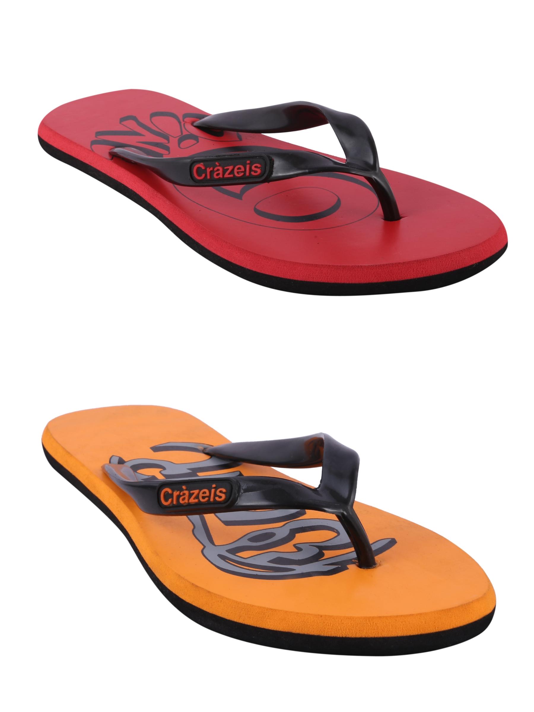 crazeis2 Crazeis Flip-flops Pack Of 2 For Men-003