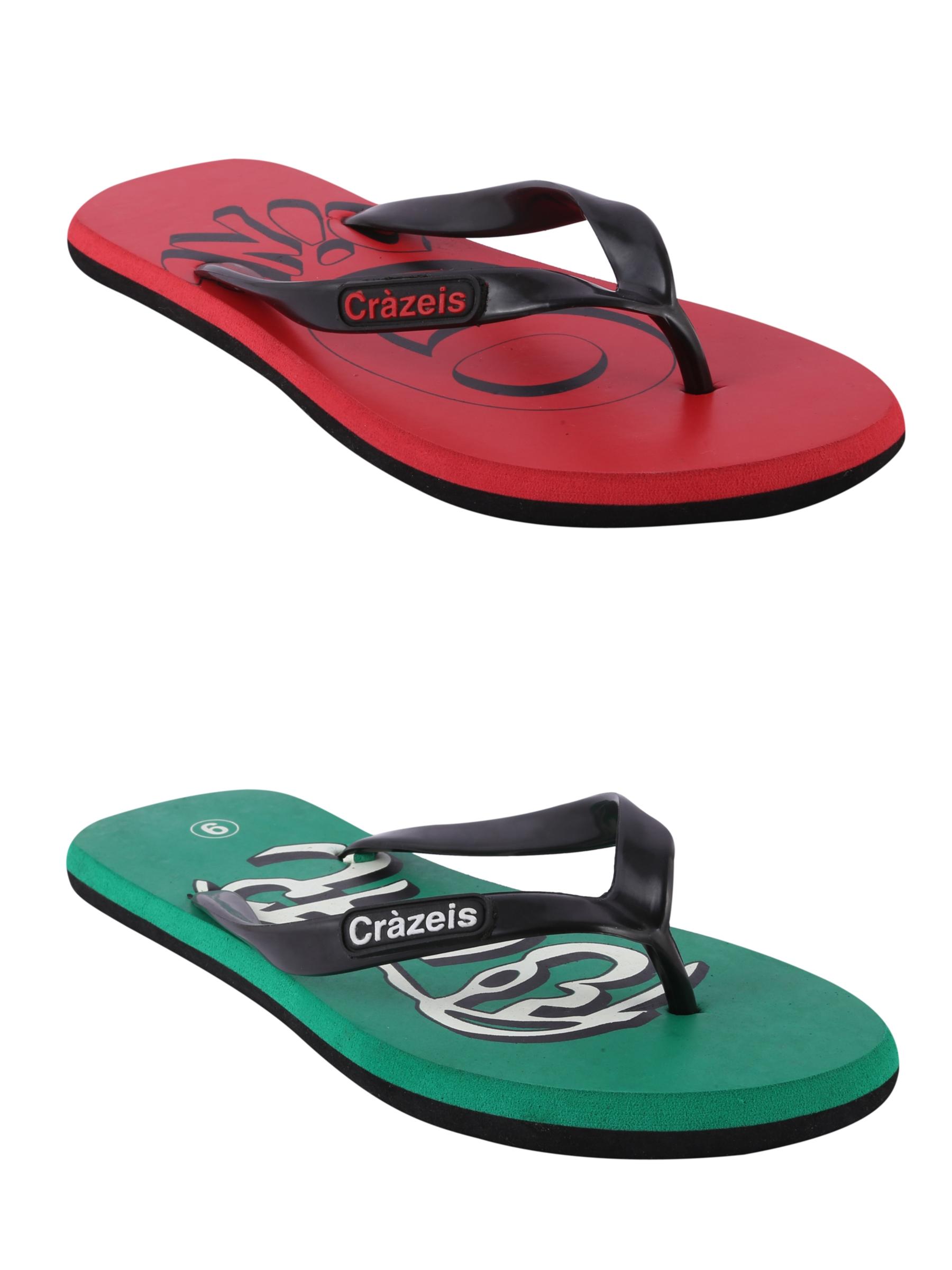 crazeis2 Crazeis Flip-flops Pack Of 2 For Men-002